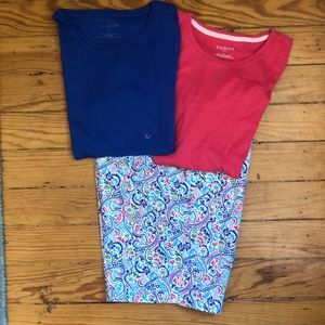 Talbots walking shorts with coordinating T-shirts